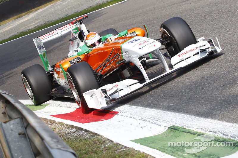 """2011: Force India VJM04<span class=""""copyright"""">Alessio Morgese</span>"""