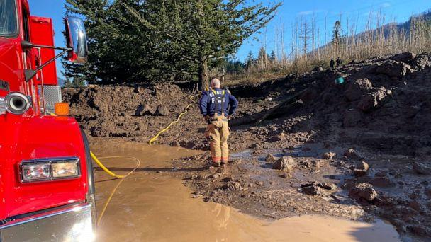 PHOTO: The Multnomah County Sheriff's Office spent days attempting to recover the body of Jennifer Moore in Dodson, Oregon, when her care was swept away in a landslide in the early hour of Jan. 13, 2021. (Facebook/Multnomah County Sheriff's Office)