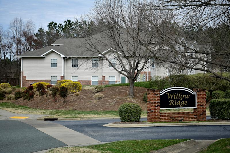 The boundary line between Congressional Districts 13 and 6 makes a dramatic turn around the Willow Ridge Apartments to make sure the complex's residents are included in District 13 rather than District 6, in Greensboro, North Carolina, U.S. March 13, 2019. Picture taken March 13, 2019. REUTERS/Charles Mostoller