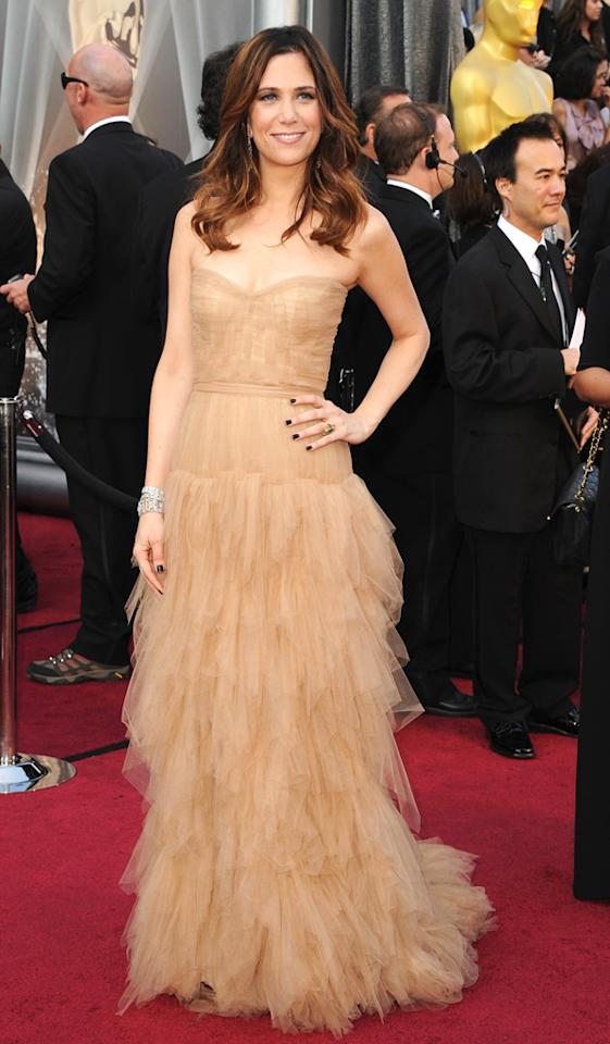 Kristen Wigg arrives at the 84th Annual Academy Awards in Hollywood, CA.