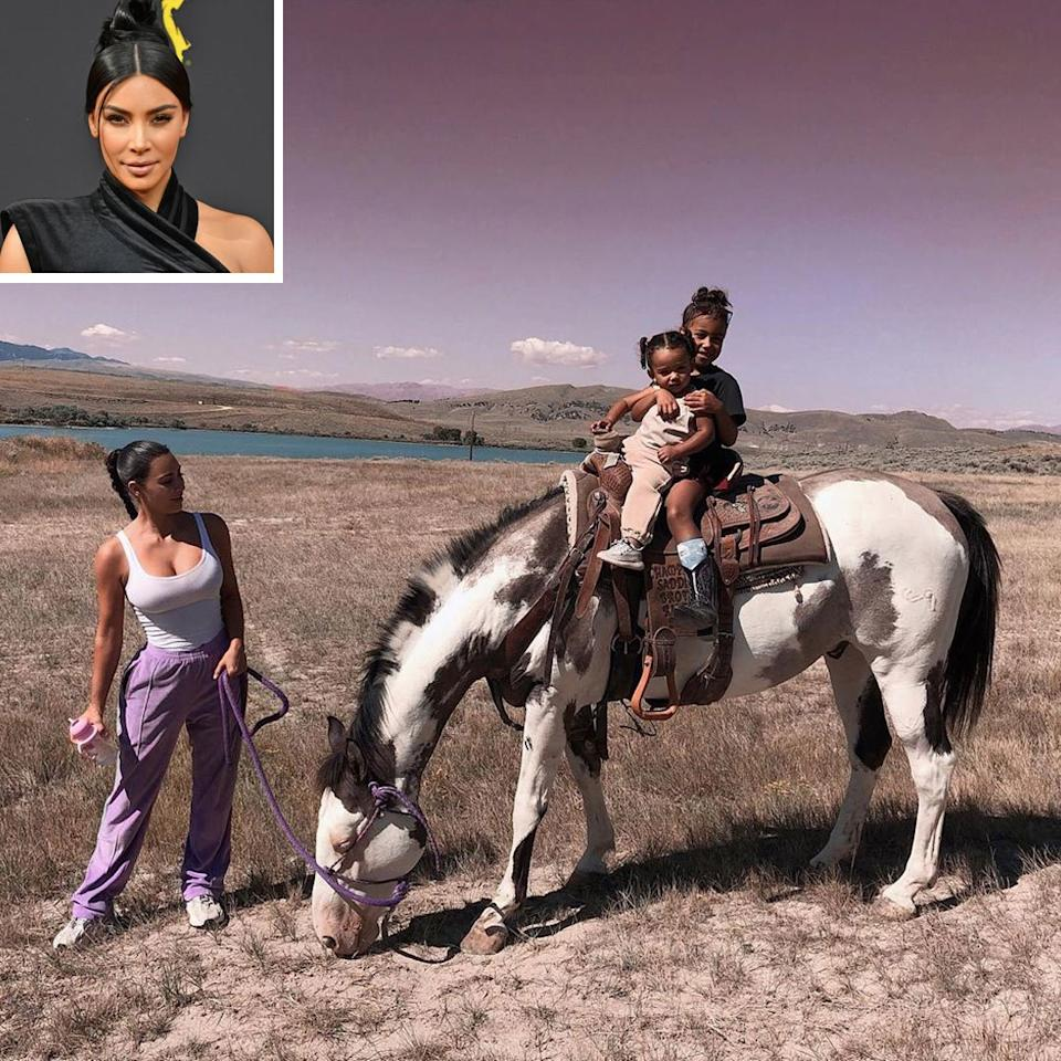 """The Kardashian-Wests are <a href=""""https://people.com/home/kim-kardashian-considering-moving-to-wyoming-part-time/"""">going west</a>, y'all! Kanye West bought a ranch for the family in Wyoming and it seems as if the family is <a href=""""https://people.com/tv/kim-kardashian-wants-move-wyoming-kanye-west/"""">considering a move</a>. Kim Kardashian West isn't sold on <a href=""""https://people.com/tv/kim-kardashian-kanye-west-not-moving-to-wyoming-full-time/"""">living on the ranch full-time</a>, but admits that she loves the idea of it for summers and weekends.  The mogul <a href=""""https://people.com/home/kim-kardashian-considering-moving-to-wyoming-part-time/"""">told Jimmy Fallon</a>, """"My husband did just buy a ranch there. His dream and his vision is to move there. I love L.A. So, I envision summers, I envision some weekends. But yeah, we love it. It's like the prettiest place you've ever seen in your entire life. Even my sisters, everyone, we've had this dream of getting a ranch and just spending our summers there and getting away."""""""