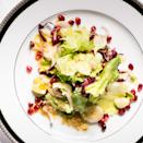 """Pomegranate seeds give this salad of mixed chicories lots of festive color and bright pops of juicy, tart flavor. <a href=""""https://www.epicurious.com/recipes/food/views/winter-lettuces-with-pomegranate-seeds-51206810?mbid=synd_yahoo_rss"""" rel=""""nofollow noopener"""" target=""""_blank"""" data-ylk=""""slk:See recipe."""" class=""""link rapid-noclick-resp"""">See recipe.</a>"""