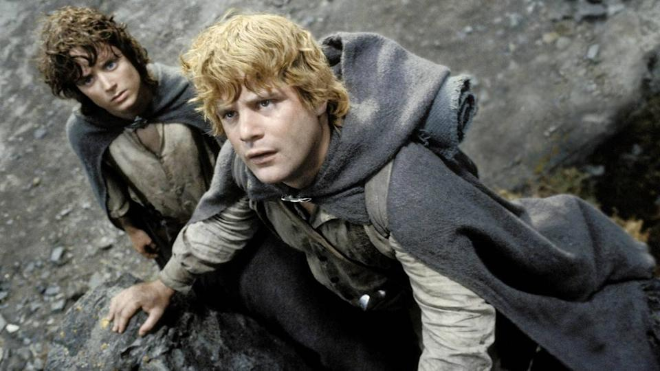 Sean Astin and Elijah Wood in Lord Of The Rings (New Line Cinema)