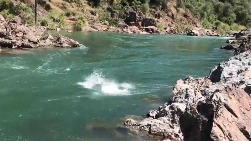 The river is reportedly flowing at twice the normal strength. Source: Vimeo