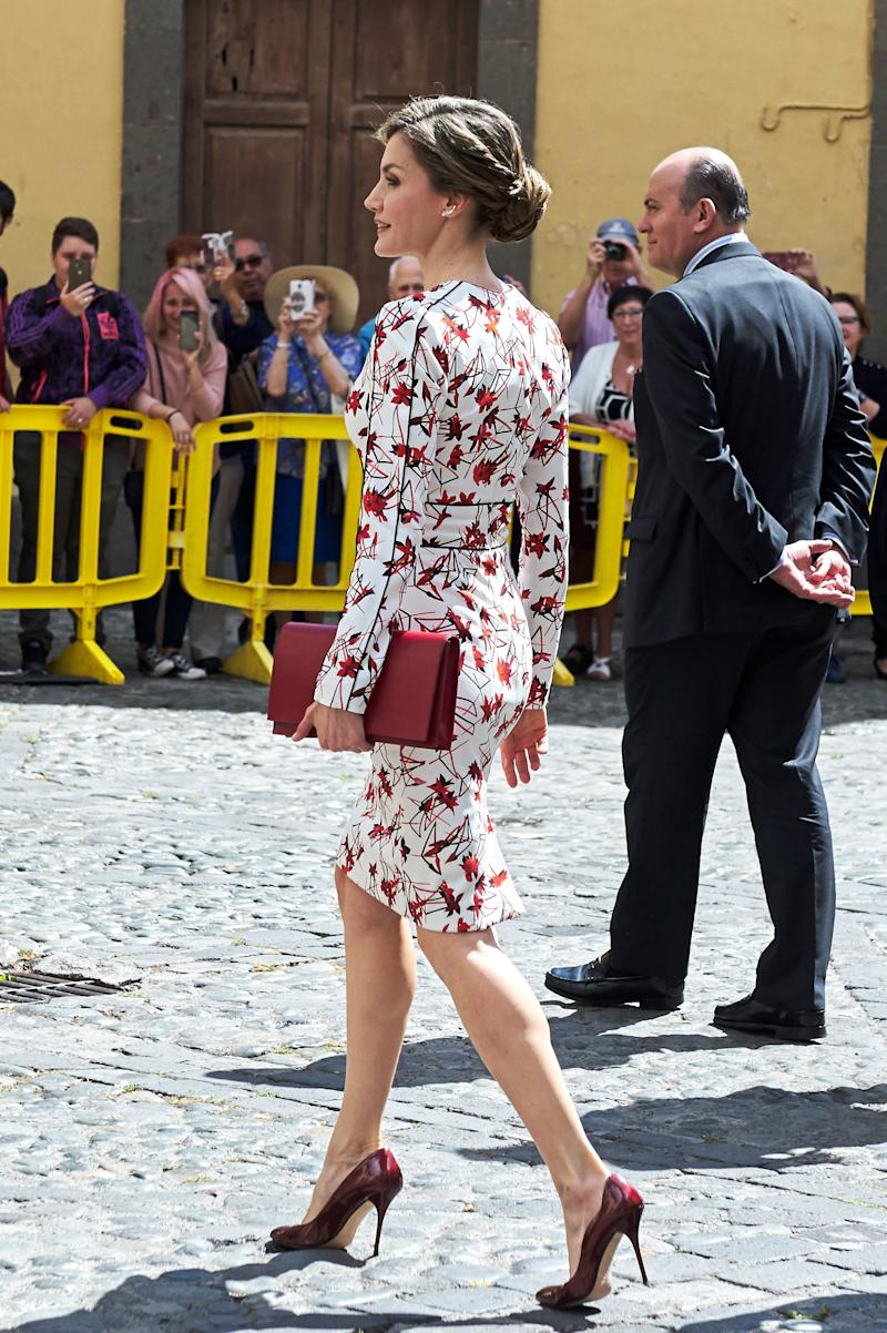 Queen Letizia of Spain Gives Spring Florals the Royal Treatment