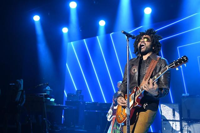 <p>Kravitz was one of two special performers who took the stage that evening. (Photo by Venturelli/Getty Images for LDC Foundation) </p>