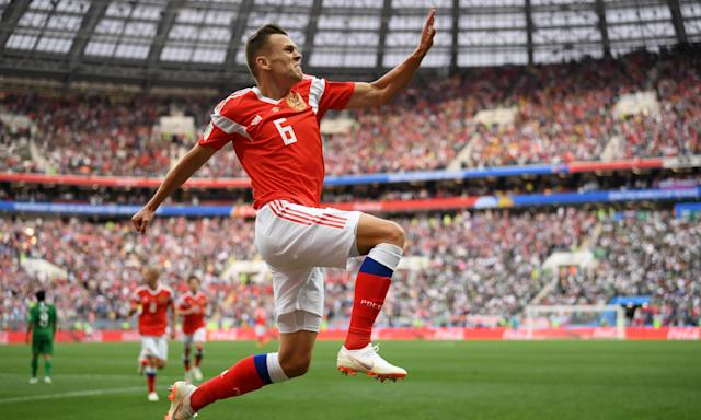 Denis Cheryshev: 'Russia's least Russian player, the perestroika kid who grew up in Spain, decorated this flag day in his nation's sporting history with two brilliant goals'.