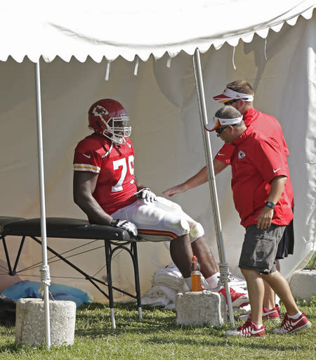 Chiefs offensive line a grab-bag of bodies in camp