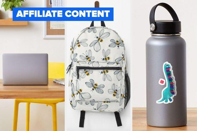 These back to school buys from RedBubble will get September off to a flying start. (Photo: RedBubble / HuffPost)
