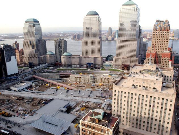 NEW YORK - DECEMBER 19: Construction continues December 19, 2003 at the site of the September 11 World Trade Center terrorist attacks in New York City. (Photo by Stephen Chernin/Getty Images)