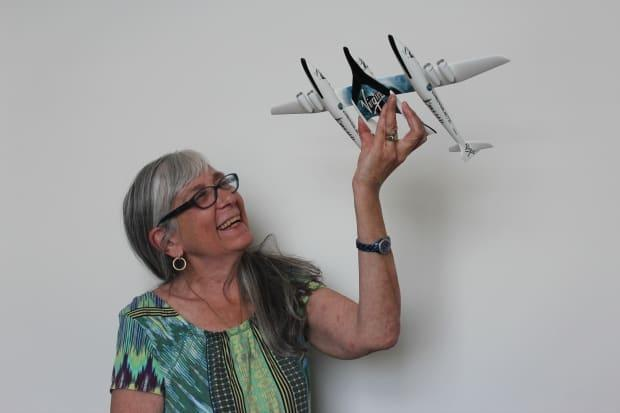 Judy Anderson has put a down payment on a ride in Virgin Galactic's SpaceShipTwo. (Chris Reid/University of Manitoba - image credit)