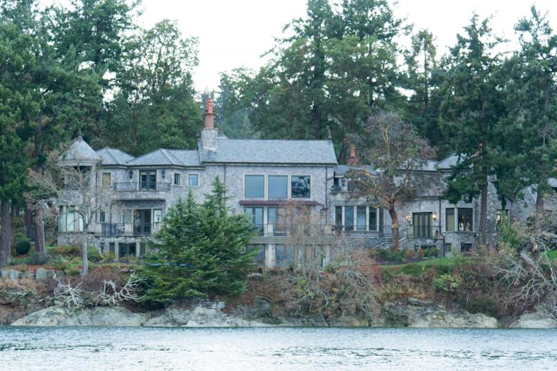 The residence of Prince Harry and and his wife Meghan seen from a boat on in British Columbia (AFP via Getty Images)