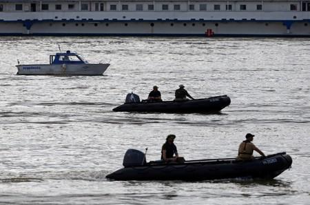 Rescue team continues its search after a tourist boat accident in the Danube river in Budapest