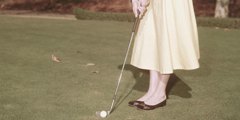 Photo credit: Audrey Hepburn playing golf in c. 1955. Image: Archive Photos - Getty Images
