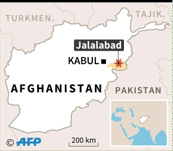 Map of Afghanistan locating attack in Jalalabad