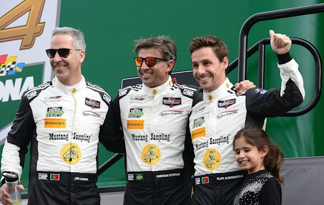 Joao Barbosa (L), Christian Fittipaldi (M) and Filipe Albuquerque had nearly a lap on second place.