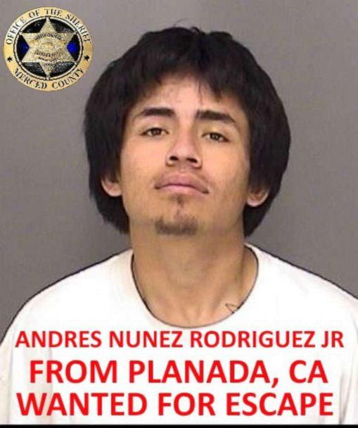 PHOTO: Andres Nunez Rodriguez Jr. is seen in this undated photo released by the Merced County Sheriff's Office. (Merced County Sheriff's Office via Facebook)