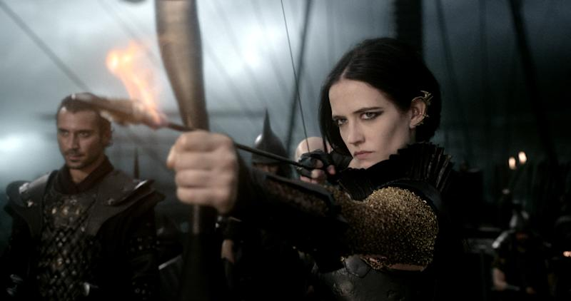 """This image released by Warner Bros. Pictures shows Eva Green in """"300: Rise of an Empire."""" (AP Photo/Warner Bros. Pictures)"""
