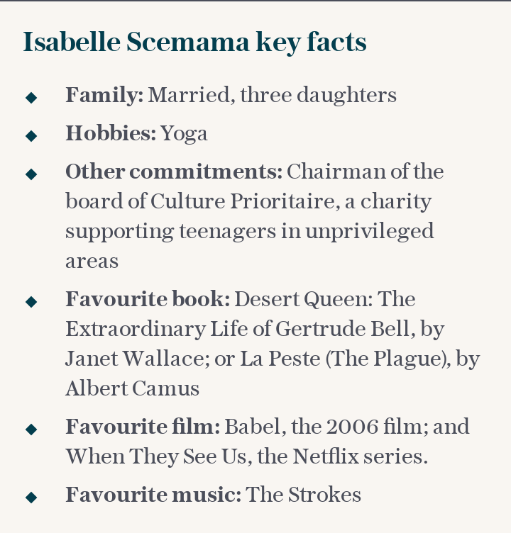 Isabelle Scemama key facts