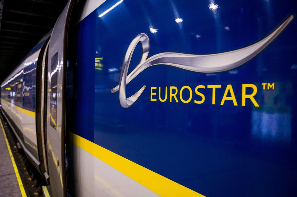 A picture shows the departure of the first ride of railway company Eurostar from Brussels to London, after the Brexit withdrawel agreement, on January 1, 2021 at the Brussel-Zuid - Bruxelles-Midi - Brussels-South train station. (Photo by JASPER JACOBS / Belga / AFP) / Belgium OUT (Photo by JASPER JACOBS/Belga/AFP via Getty Images)