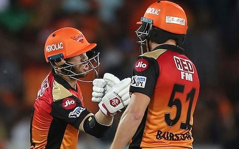 Jonny Bairstow (right) and David Warner (left) click in the IPL - Credit: ap