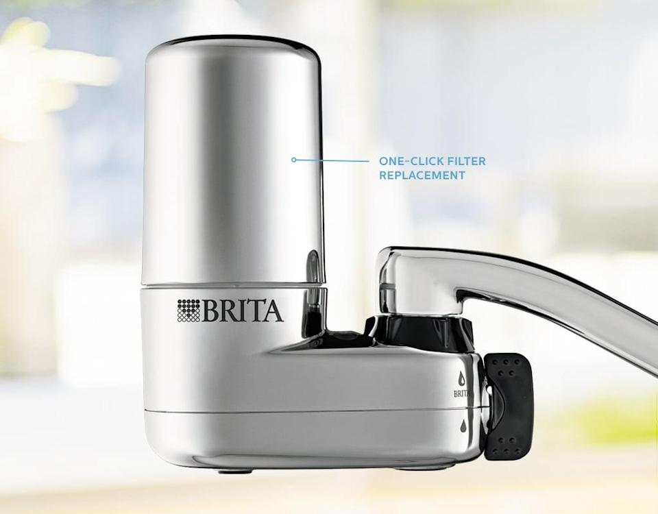 <p>You'll always have clean drinking water with this smart <span>Basic Faucet Mount System with 2 Filters</span> ($37).</p>