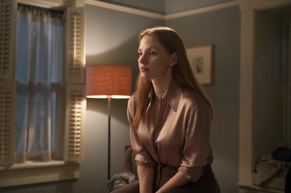 Mira (Jessica Chastain) in Scenes From A Marriage. (Still: HBO)