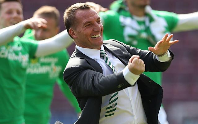 <span>Brendan Rodgers has ticked off two parts of the Treble in his debut season at Parkhead</span> <span>Credit: Ian MacNicol/Getty Images </span>