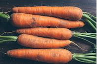 "<p>One of the UK's favourite vegetables, growing your own carrots will save you plenty of money in the long-run. While these generally take slightly longer to grow than others, you can still expect sweet, crunchy crops in just six weeks. Chris says: 'Sow into pots of potting soil, spreading the seed thinly over the surface, then cover with a thin sieved layer of compost'. </p><p><strong>Sowing to harvest: 50 days </strong></p><p><strong><a class=""link rapid-noclick-resp"" href=""https://go.redirectingat.com?id=127X1599956&url=https%3A%2F%2Fwww.suttons.co.uk%2FGardening%2FVegetable-Seeds%2FPopular-Vegetable-Seeds%2FCarrot-Seeds%2FCarrot-Seeds---Autumn-King-2_MH265.htm&sref=https%3A%2F%2Fwww.housebeautiful.com%2Fuk%2Fgarden%2Fplants%2Fg32302106%2Feasy-vegetables-to-grow%2F"" rel=""nofollow noopener"" target=""_blank"" data-ylk=""slk:BUY CARROT SEEDS"">BUY CARROT SEEDS</a><br></strong></p>"