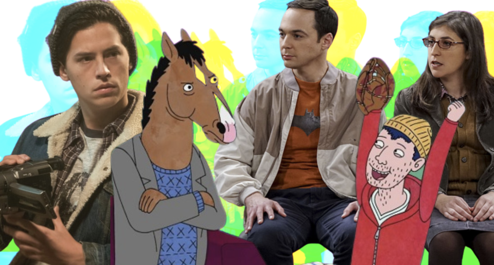 Why aren't more characters on TV asexual? (Images via CW Network/Netflix/Getty Images)