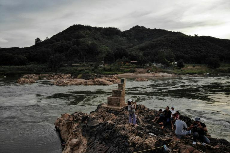 In 2019, the once-mighty Mekong River was reduced to a thin, grubby neck of water in places