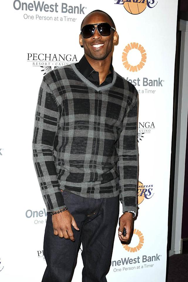 "L.A. Lakers star Kobe Bryant and his fellow NBA teammates were out in force Sunday night for the Lakers' Casino Night -- a charity event held at the Staples Center to benefit the Los Angeles Lakers Youth Foundation and the Staples Center Youth Foundation. Jason LaVeris/<a href=""http://www.filmmagic.com/"" target=""new"">FilmMagic.com</a> - April 3, 2011"