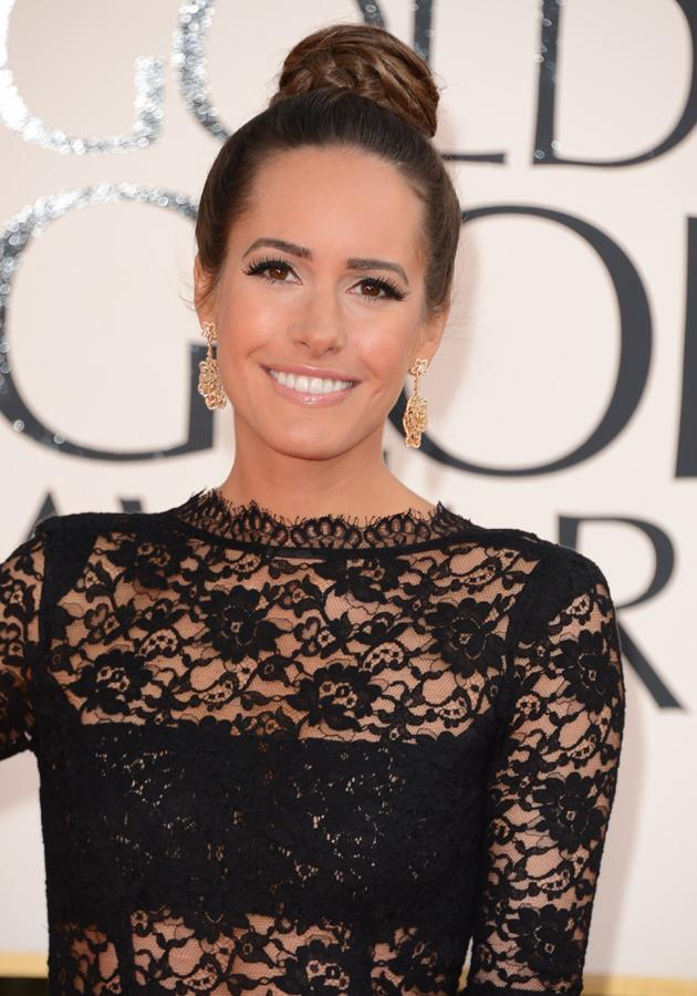 Golden Globes 2013 red carpet: Louise Roe wowed us with her ballerina bun ©Getty