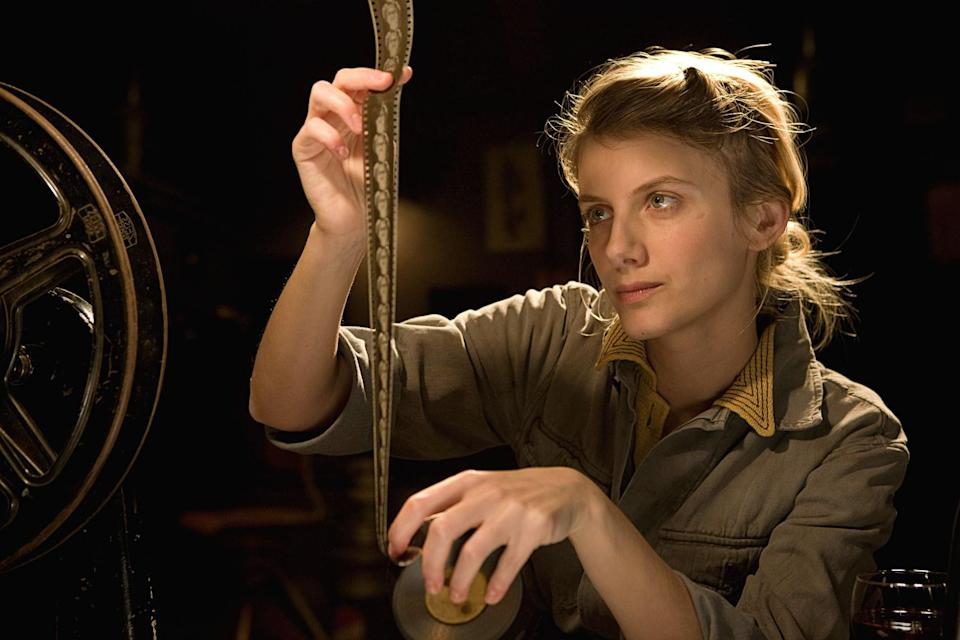 "<p>You might not expect a World War II movie that features an alternate history in which Adolf Hitler is assassinated by a team of Jewish American soldiers to feature a strong female role, but…it does! Mélanie Laurent plays Shosanna, a French Jewish cinematographer who shares a significant role in the plot to take down the Nazis in this Quentin Tarantino–directed film.</p> <p><a href=""https://www.amazon.com/Inglourious-Basterds-Brad-Pitt/dp/B002UEW31I"" rel=""nofollow noopener"" target=""_blank"" data-ylk=""slk:Available to rent on Amazon Prime"" class=""link rapid-noclick-resp""><em>Available to rent on Amazon Prime</em></a></p>"