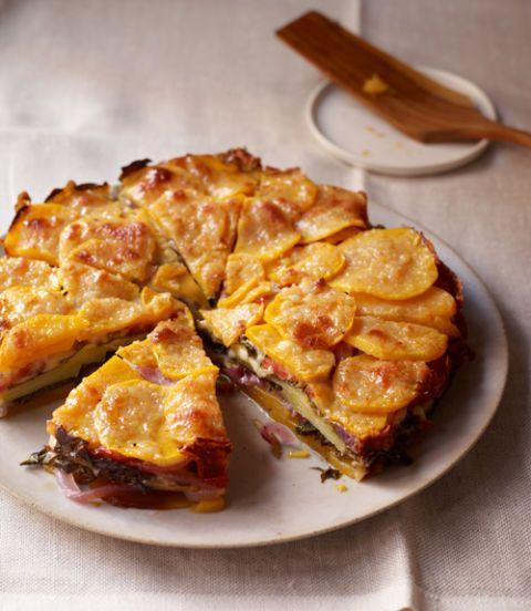 """<p>Not only is this torte filled with delicious vegetables and cheese, but it's also visually stunning  — perfect if you're looking to impress a crowd.</p><p><em><a href=""""https://www.womansday.com/food-recipes/food-drinks/recipes/a11296/butternut-squash-kale-torte-recipe-124667/"""" target=""""_blank"""">Get the Butternut Squash and Kale Torte recipe.</a></em></p>"""