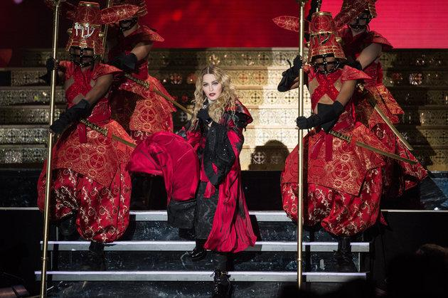 Madonna on her most recent world jaunt, the 'Rebel Heart' tour