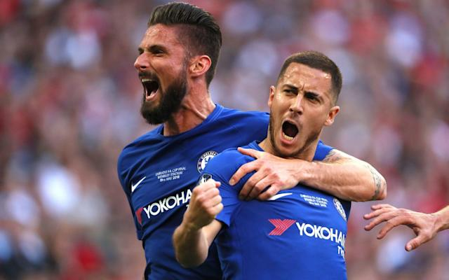"""It was the ultimate act of player power and yet nobody at Chelsea flinched after Eden Hazard revealed he would wait for the club to sign """"good players"""" before deciding his future. There are not many who could get away with challenging owner Roman Abramovich in such a way, but Hazard is undoubtedly a special case at Stamford Bridge. He and Chelsea both know the club cannot afford to lose him. He is the stardust, the man the sponsors love, the player who can elevate the rest of the team to a different level – as he showed again in his 300th Blues appearance as Chelsea beat Manchester United 1-0 at Wembley. It is why the fear that Hazard could look to leave Stamford Bridge if Antonio Conte stays for the final year of his contract is a major factor in a decision over the managerial situation that should now be made imminently. If it is a choice between Conte and Hazard, then the Italian goes. And there would be more than a passing thought given to whether or not any potential successor would please the Belgian. Hazard cooly tucks away a penalty at Wembley Credit: AFP With Chelsea unable to outspend the rivals these days, Hazard is simply irreplaceable. Despite challenging him in public on a few occasions, Jose Mourinho was well aware of Hazard's importance during his second spell at the club. That is why the Portuguese would tell his star man his transfer plans while others were left in the dark. Conte is not the type to indulge any player to that degree and it became an issue when he asked Hazard to sacrifice himself in the false nine position earlier in the season, and then questioned his commitment in private. Hazard plays best when he has a smile on his face and for weeks after the limp 1-0 defeat to Manchester City, he went missing. He was constantly taken off in games and looked far from happy. FA Cup final reaction and analysis 