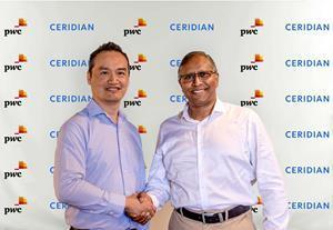 Ceridian and PwC Mauritius announced a partnership where PwC Mauritius will provide consultation and implementation services to organisations seeking to optimise their operations through Ceridian's award-winning HCM platform, Dayforce. [From Left to Right: Jean-Pierre Young - PwC Mauritius Advisory Leader Mauritius and Vidia Mooneegan - Managing Director of Ceridian Mauritius]