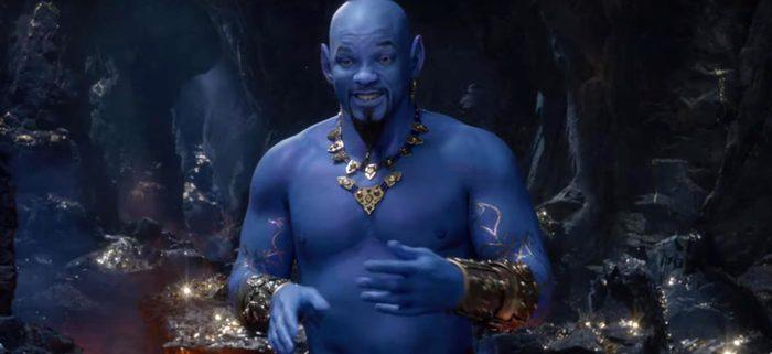 Will Smith at the Genie in Aladdin (Credit: Disney)