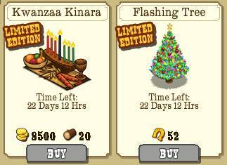 FrontierVille Kwanzaa and Christmas