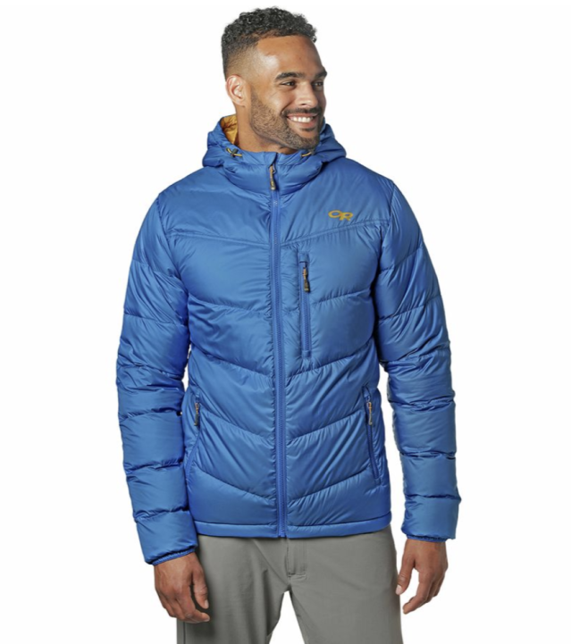 Outdoor Research Transcendent Hooded Down Jacket. (Photo: Backcountry)