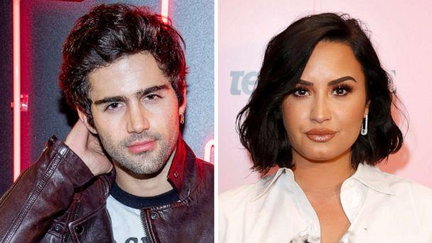 PHOTO: Max Ehrich and Demi Lovato pose in a composited photos in New York and Los Angeles from Dec. 14, 2018 and November 02, 2019. (Getty Images, FILE)