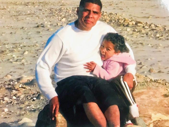 """Undated photo of Daniel Hernandez with his daughter Melanie. Hernandez died in an LAPD shooting on April 22. <span class=""""copyright"""">(Hernandez family)</span>"""