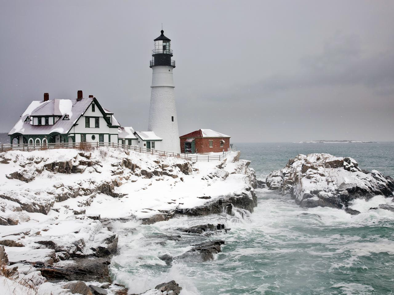 """It's important to stay busy to avoid cabin fever during New England winters (see: any Stephen King novel); luckily, cities like <a rel=""""nofollow"""" href=""""https://www.cntraveler.com/story/how-portland-maine-keeps-getting-cooler?mbid=synd_yahoo_rss"""">Portland</a> make getting outside downright appealing. The city—the most populous in Maine—comes alive with activities during the winter, from cross-country skiing to ice skating on Deering Oaks Pond. Get there in late January to participate in Winterfest (January 25-28), a well-known annual festival that includes horse-drawn carriage rides, s'mores around fire pits, cardboard sledding, and food trucks."""
