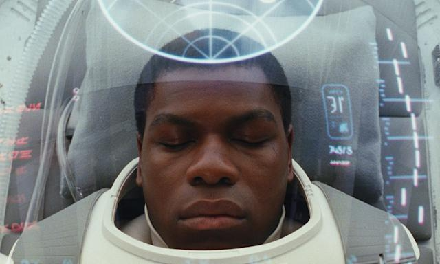 Finn (John Boyega) begins the film in a coma. (Photo: Lucasfilm)