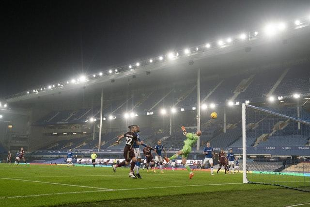 Games at Goodison Park have been played behind closed doors
