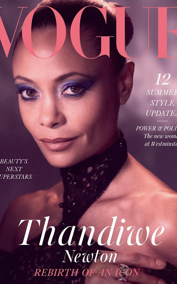 Thandiwe Newton on the cover of Vogue