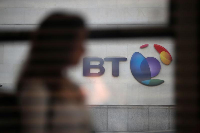 FILE PHOTO - British Telecom (BT)'s headquarters is seen in central London, Britain May 10, 2018. REUTERS/Hannah McKay