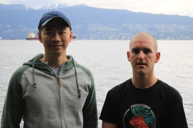 Kian Zhao and Chris Samson are free divers and hobby crab harvesters.