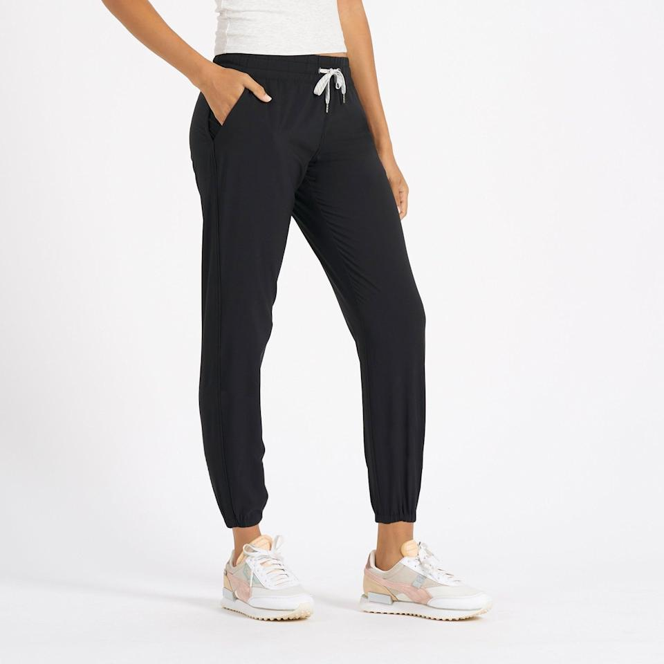 <p>The brand is known for its popular <span>Vuori Performance Joggers</span> ($84). With over 13,000 rave reviews, you'll want to see what makes them so great, too.</p>